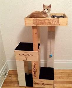Arbre A Chat En Palette : 1001 id es et tutos pour fabriquer un meuble en cagette charmant chaton pinterest chat ~ Melissatoandfro.com Idées de Décoration