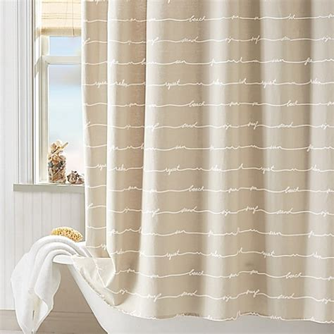 Coastal Shower Curtain by Coastal Living 174 Sand Script Shower Curtain In