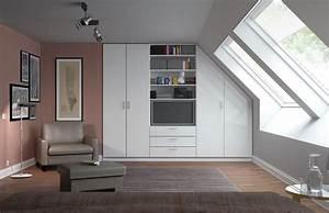 Möbel Dachschräge Ikea : der schrank f r die dachschr ge in seidenglanz wei passt millimetergenau ledersessel und ~ Orissabook.com Haus und Dekorationen