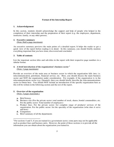 How To Write Internship Report In Resume by Internship Report Template Free