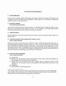 Internship Report Template Free Download