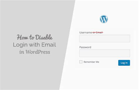 disable login  email address feature  wordpress