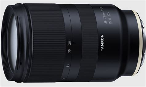 tamron unveils 28 75mm f 2 8 for sony 70 210mm f 4 for canon nikon