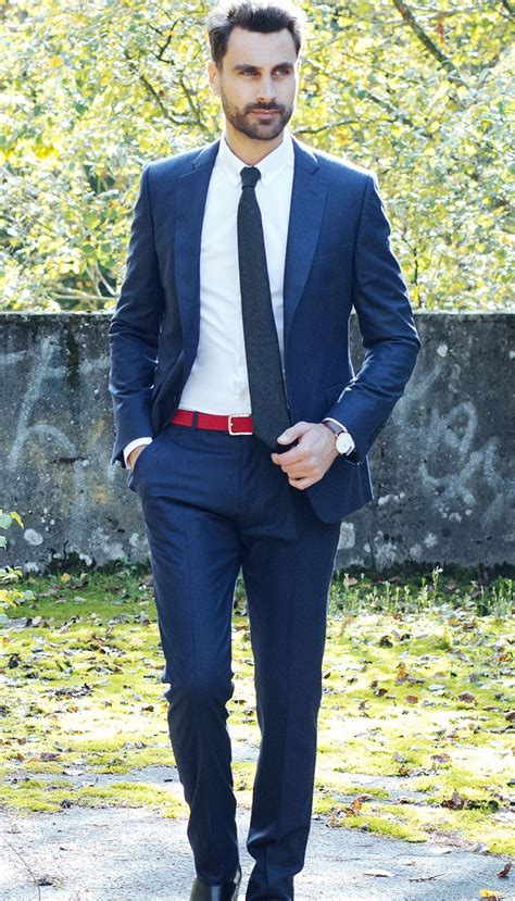 costume en flanelle bleu marine  nines costume mi saison