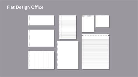 flat lined paper template  powerpoint slidemodel