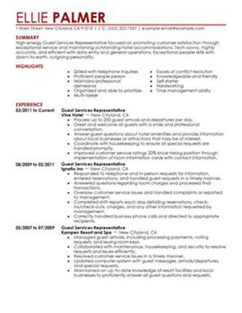 Hospitality Resume Format Pdf by Impactful Professional Hotel Hospitality Resume Exles