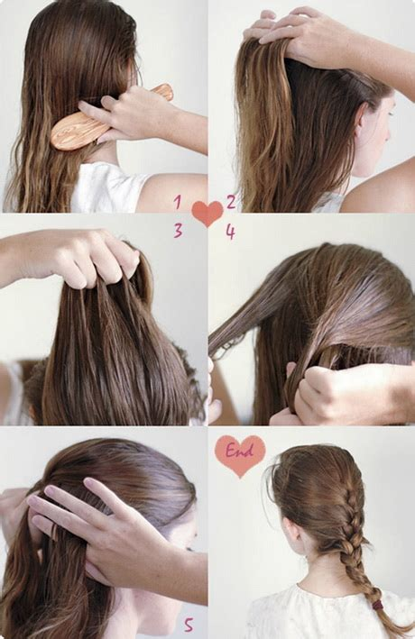simple hairstyles  long hair step  step