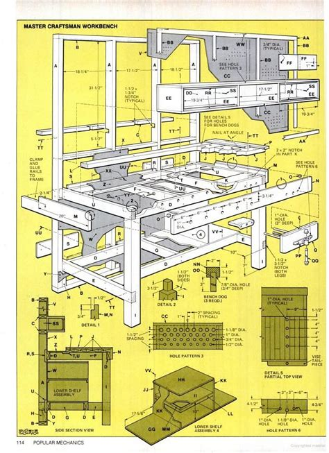 images   workbench plans  pinterest