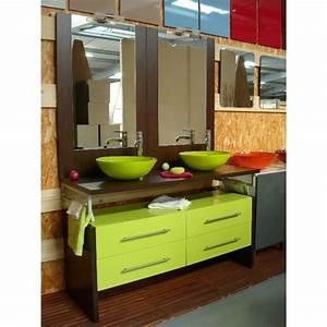 salle de bain vert lime chaioscom With meuble salle de bain vert