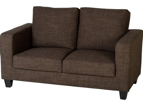 2 Seater Settees by Seconique Tempo 2 Seater Sofa In A Box Brown Fabric