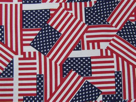 100 & Cotton American Flags  Showtime Fabrics