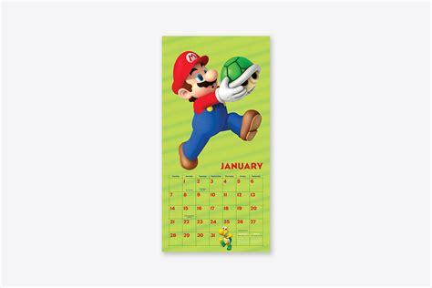 super mario wall calendar wall abrams