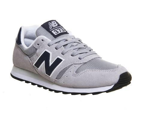 New Balance 373 Grey Grey Navy Mesh  Unisex Sports
