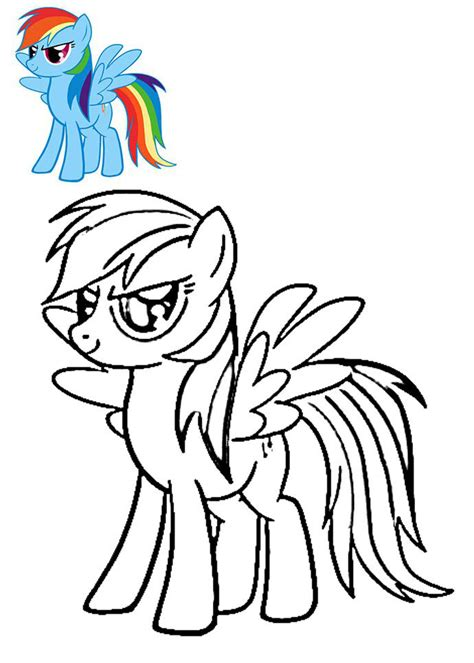 rainbow dash coloring pages    print