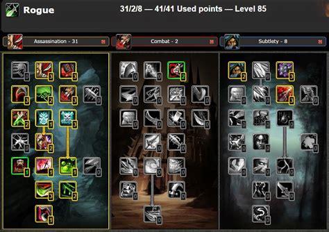 pve rogue talent assassination guide dps cataclysm wow talents pvp leveling glyphs build warcraft