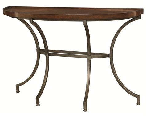 metal sofa table legs sofa table with metal legs by hammary wolf and gardiner