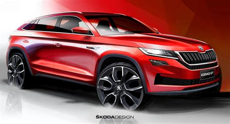 skoda confirms china  kodiaq gt coupe crossover