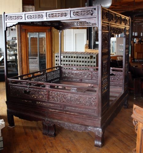 antique chinese wedding bed salvage