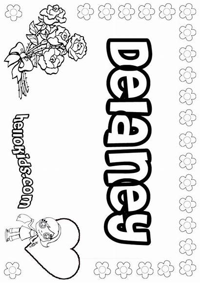 Delaney Kelsey Coloring Pages Hellokids Names Among