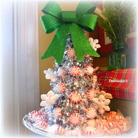 a sparkly peppermint christmas tree dollar tree craft