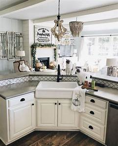 Inexpensive Farmhouse Hacks DIY Concrete Counters And
