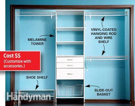 build a low cost custom closet the family handyman