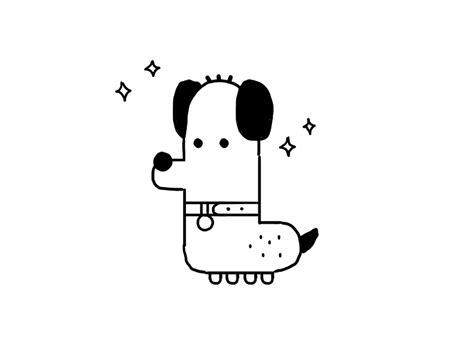 dog doodle  hey hey momo dribbble dribbble