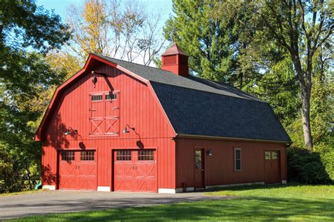 New Barn Garage by Patriot Gambrel Style 1 189 Story Garage The Barn Yard