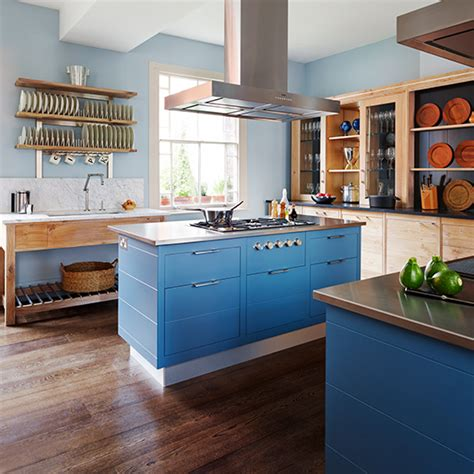 kitchen trends shades  blue ideal home