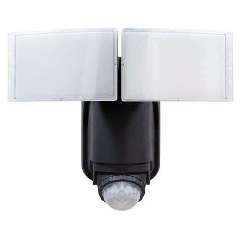 led security light defiant 180 176 black solar powered motion led security light