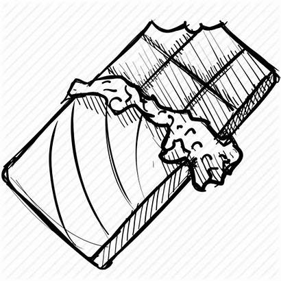 Chocolate Bar Candy Drawing Sweet Dessert Coloring