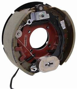 Electric Trailer Brakes W   Dust Shields - Self-adjusting - 12-1  4 U0026quot  - Left  Right - 8k