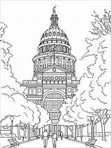 Coloring Capitol Building Pages Mycoloring Educational Printable Print sketch template