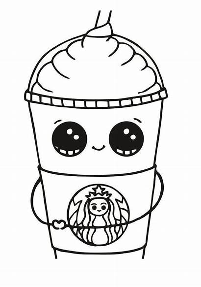 Coloring Starbucks Pages Printable Colouring Cup Cool