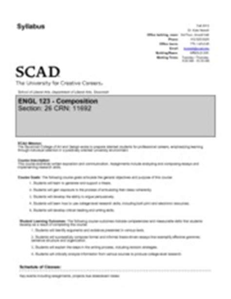 scad resume fye hw writing speaking reading