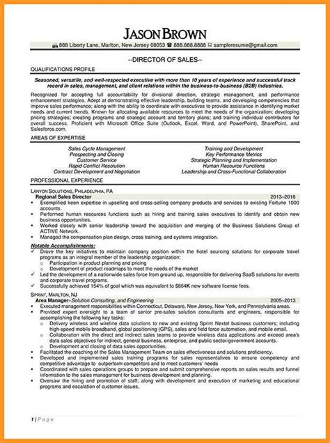 Electronic Formatted Resume Definition by 14 15 Director Of Sales Resume Exles Southbeachcafesf