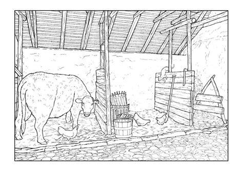 disegno da colorare stalla cat