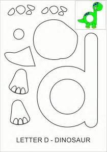 template dinosaurs letter d dinosaur alphabet