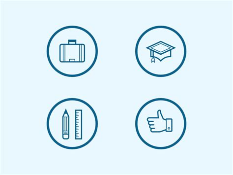 Blue Resume Icons by Resume Icons By Steve Schoger Dribbble