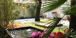 amenagement jardin de ville avec bassin marseille With charming amenagement petit jardin avec terrasse 4 creation et amenagement de terrasse en bois paysagiste