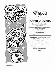 Whirlpool Acm707ne Instruction For Use