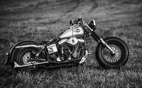 Black And White Harley Davidson Motorcycle