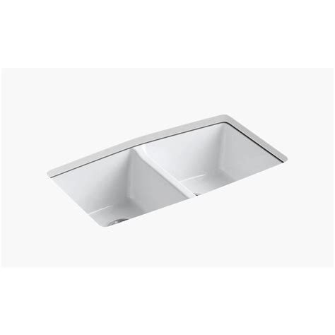 white cast iron undermount kitchen sink kohler brookfield undermount cast iron 33 in 5 2040
