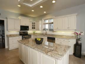 White Cabinets With Brown Trim by Kitchen Makeover Progressive Countertop London On