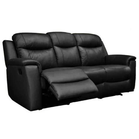 vente canap cuir canapé 3 places relax evasion en cuir noir achat