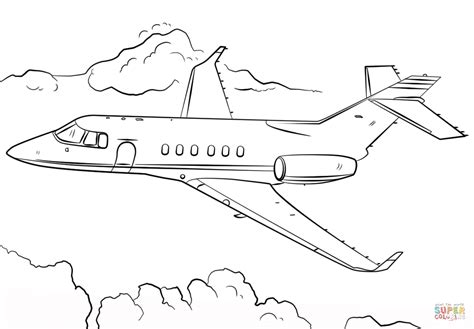 jet airplane coloring page  printable coloring pages