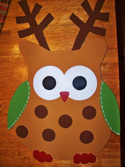 reindeer owl door hanger  carla gaddy door candy