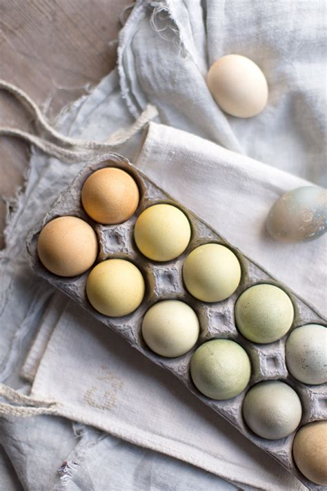 natural tea dyed easter eggs