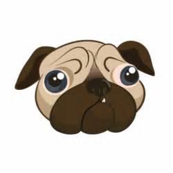Cute Cartoon Pug Faces