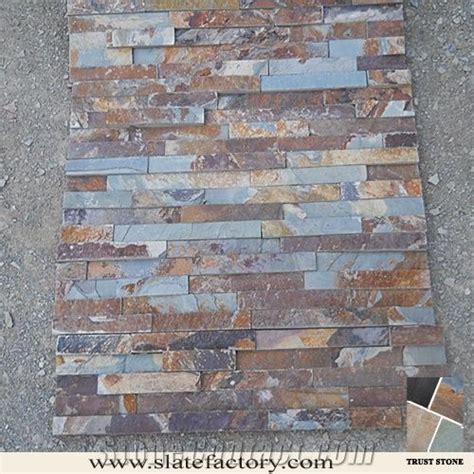 Slate Veneer Fireplace - fireplace cultured wall cladding peacock slate